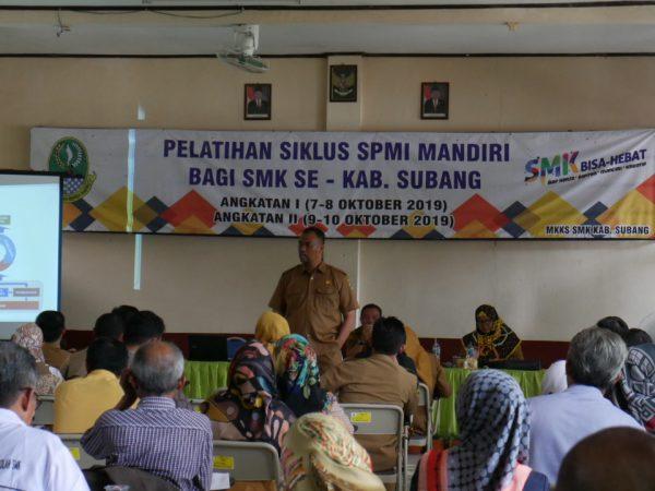 Pelatihan Siklus SPMI SMK se-Kabupaten Subang