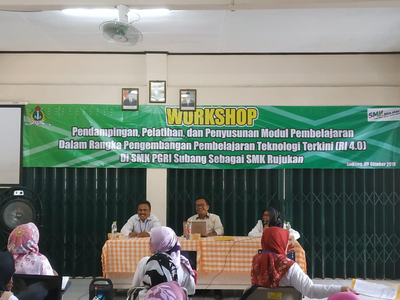 Workshop Pendampingan, Pelatihan, dan Penyusunan Modul Pembelajaran