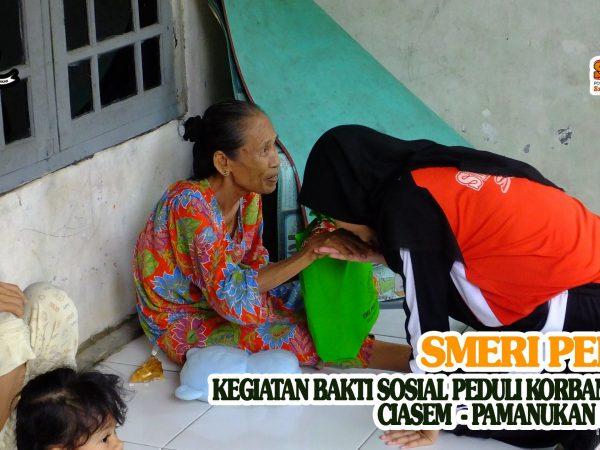 Bakti Sosial : SMK PGRI Subang Peduli Korban Banjir Ciasem - Pamanukan