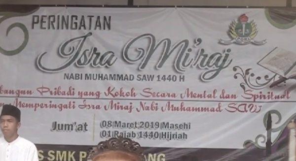 Video : Peringatan Isra Mi'raj 1440 H SMK PGRI Subang