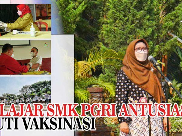 Pelajar SMK PGRI Subang Antusias Ikuti Vaksinasi!
